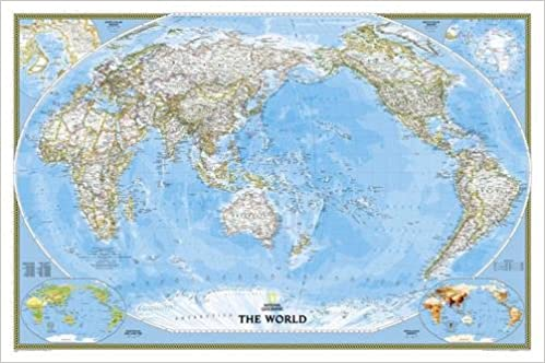 Amazon buy world classic pacific centered tubed wall maps amazon buy world classic pacific centered tubed wall maps world national geographic reference map book online at low prices in india world gumiabroncs Choice Image