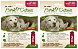 SENTRY Natural Defense Fleaand Tick Squeeze-On Dog 40lb+ 6month (2x3mo), My Pet Supplies