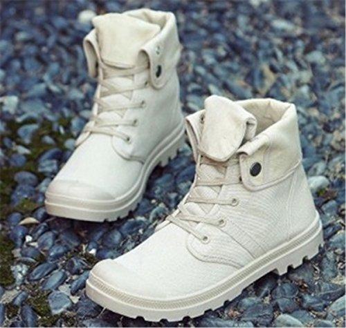 Bininbox Casual Heren Sportschoenen High-top Ademend Sportschoenen Voor Sportschoenen Comfortabel Lopend Canvas Beige