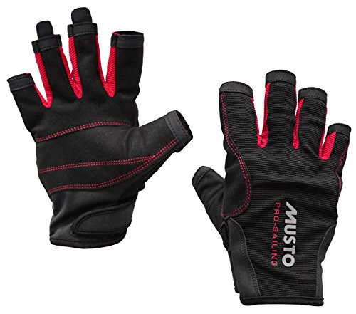 Musto Essential Sailing Short Finger Gloves BLACK AS0813 Sizes- - Large