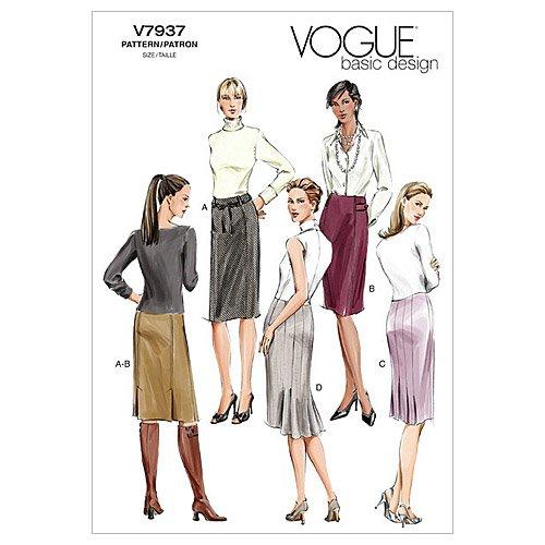Vogue Patterns V7937 Misses' Petite Skirt, Size FW (18-20-22)