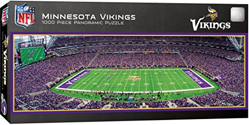 MasterPieces NFL Minnesota Vikings 1000 Piece Stadium Panoramic Jigsaw - Outlet Mall In Minnesota