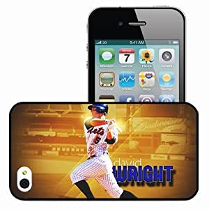 Personalized iPhone 4 4S Cell phone Case/Cover Skin 15001 david wright by xman20 d309l1o Black