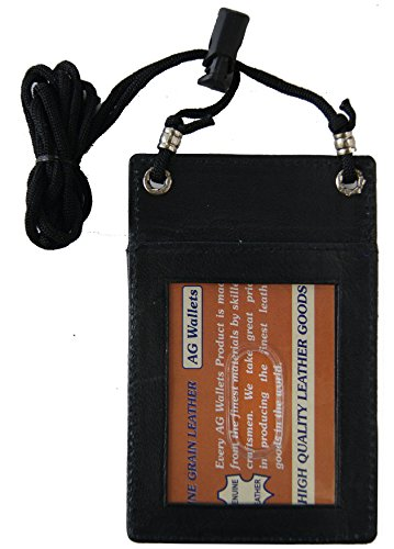 Leather Id/cell Phone Holder Black # 068