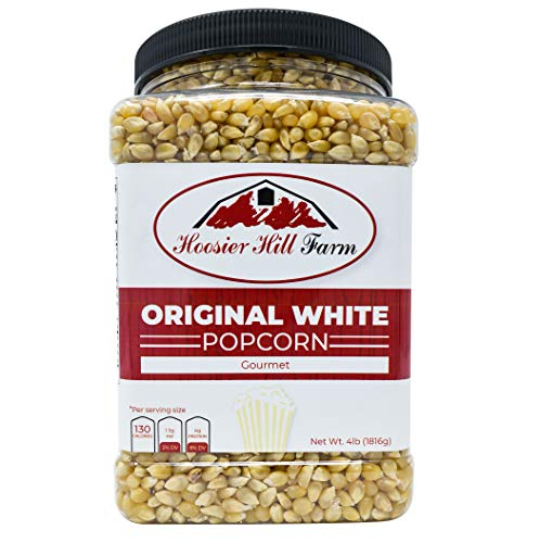 Hoosier Hill Farm Original White, Popcorn Lovers Jar, 4 Pound (Best White Popcorn Kernels)