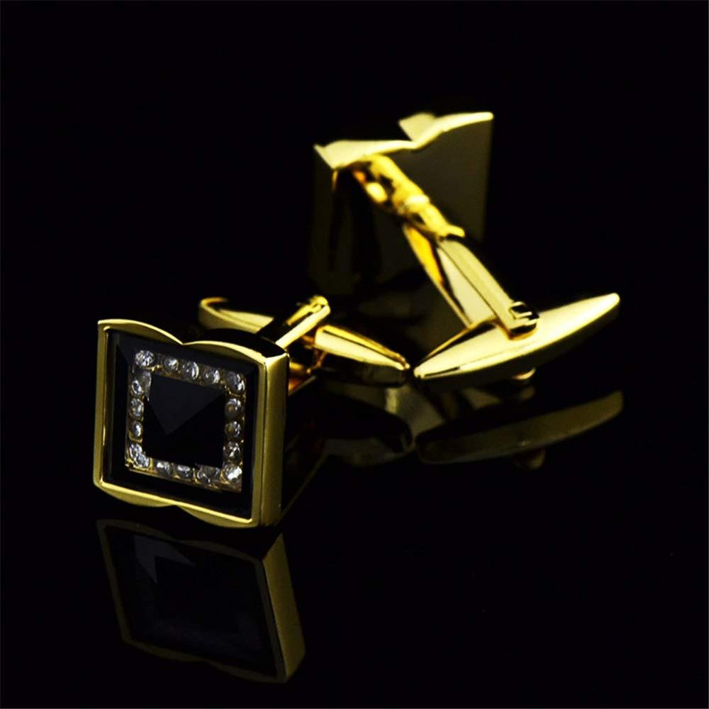 Business Mens Fashion Cufflinks Shirt Accessories Mens Cu Iddefee Cufflinks Mens Gold and Silver Crystal Glass Cufflinks Mens Shirt Cufflinks Business Shirt Mens Metal Cufflinks Accessories