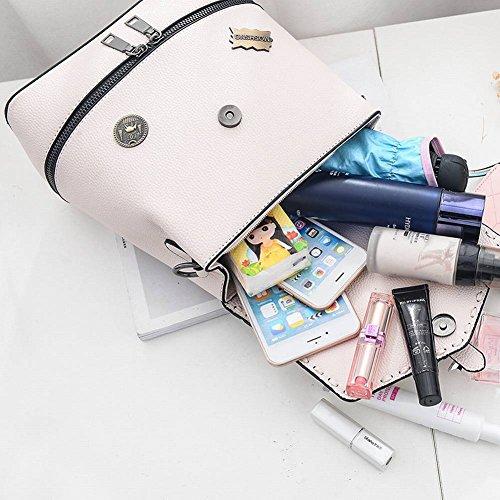 Mode Main à Personnalité Sac Sac Sac Féminin à Sauvage à Bandoulière blanc Mini Double Simple Dos BwCq4zxS
