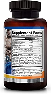 PRISTINE BOOST ★ Natural Testosterone Booster ★ Male Performance Enhancement ★ High Potency Herbal Pill ★ Muscle Growth ★ Improved Libido Mood Sex ★ Energy Strength Stamina ★ Made in USA