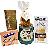 Small Christmas Gift Basket Christmas Mug - Gifts for Women - Gifts for Men - Biscotti, Hazelnut Chocolates, Hot Chocolate Mix and More. (Green)