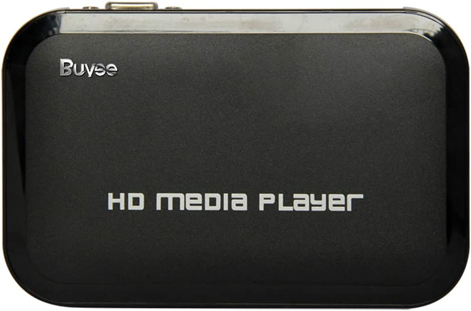 Buyee Portable HD for 1080P Resolution Multi Media Player 3 Outputs Hdmi, Vga, Av, 2 Inputs Sd Card