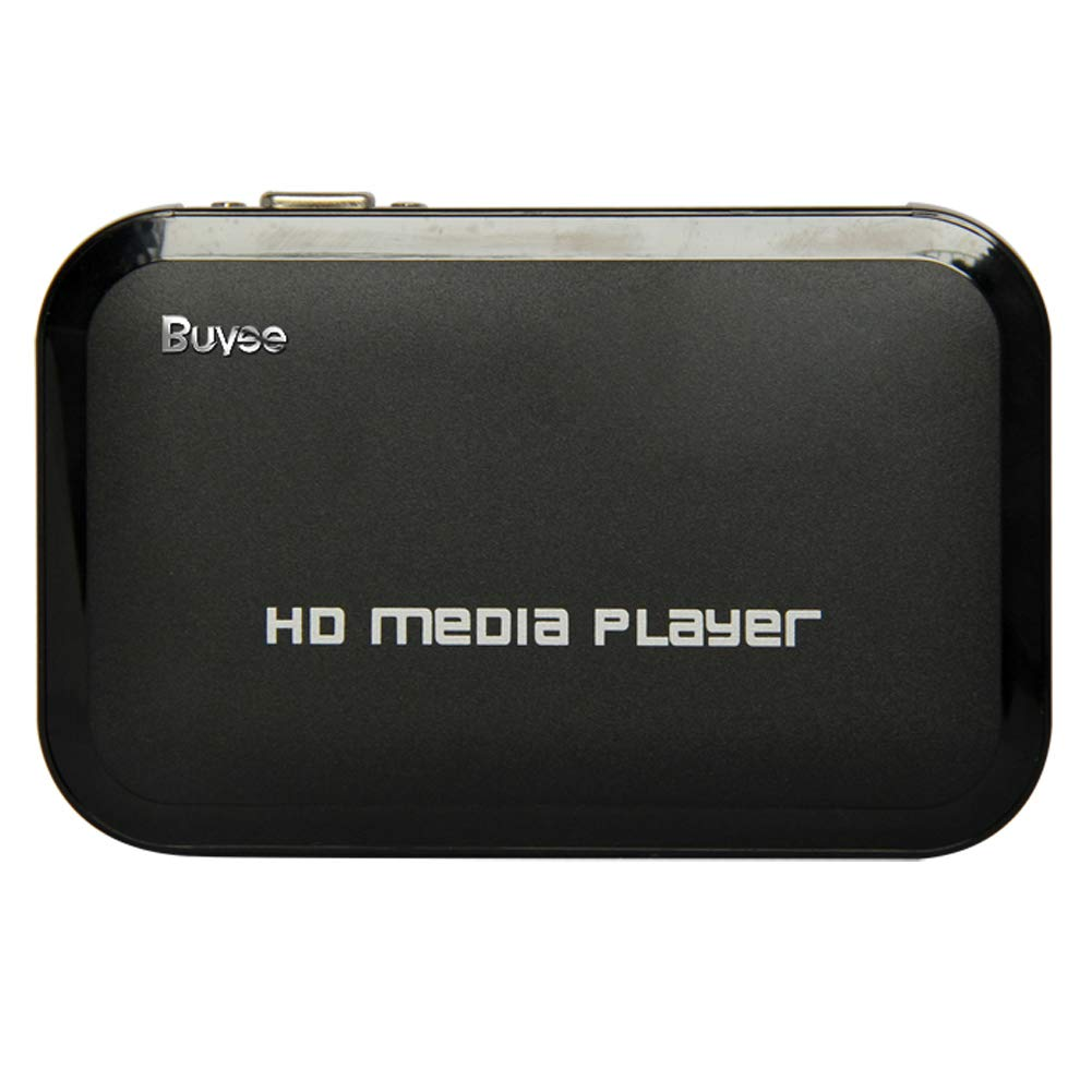 Buyee Portable Full for 1080P HD Resolution Multi Media Player 3 outputs HDMI, AV, 2 inputs SD Card & USB reader for HDDs or Pen Drives, Digital Auto-play & Loop-Play Shenzhen Buyee Trading Co. Ltd T123