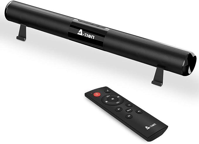Barra de Sonido TV, ACTION Barra Sonido Bluetooth 5.0 Subwoofer ...