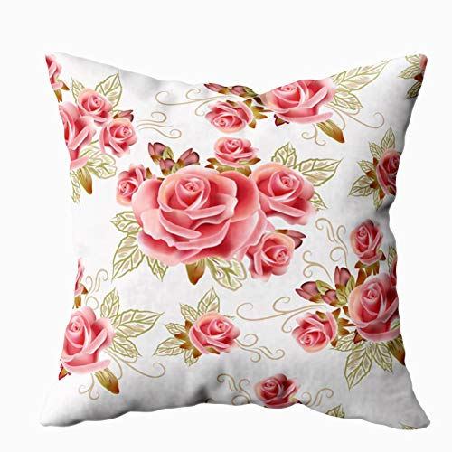 - Musesh Home Pillow Cover, Pattern Design with Flowers Wallpaper for Sofa Home Decorative Pillowcase 20X20Inch Pillow Covers