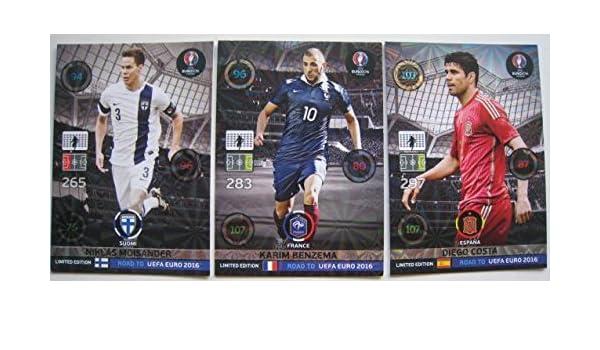 Panini Adrenalyn XL Road to UEFA Euro 2016 karim benzema Limited Edition