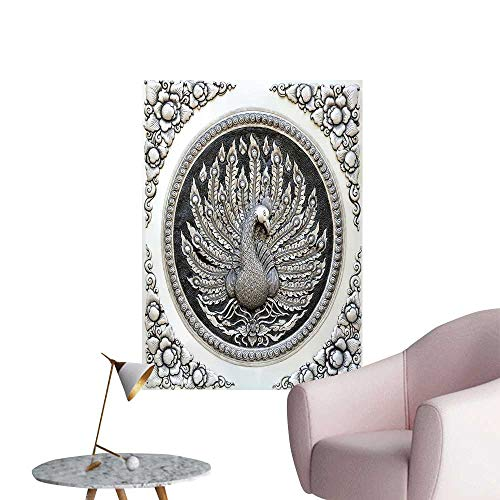 Lacquer Jessica - SeptSonne Wall Decoration Wall Stickers Frame engrav Silver Lacquer plaate Show Peacock imals in Mythology fine Print Artwork,16