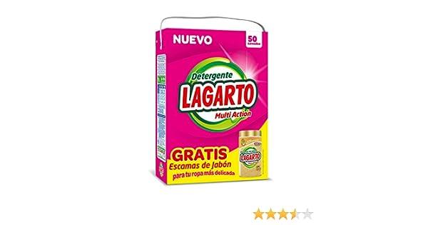 Lagarto Detergente en Polvo para Lavadora, 50 Lavados + Bote ...