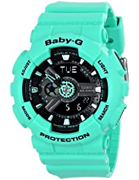 Womens BA-111-3ACR Baby-G Analog-Digital Display Quartz Teal Watch
