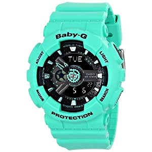 51x2oosRHNL. SS300  - Casio Women's BA-111-3ACR Baby-G Analog-Digital Display Quartz Teal Watch