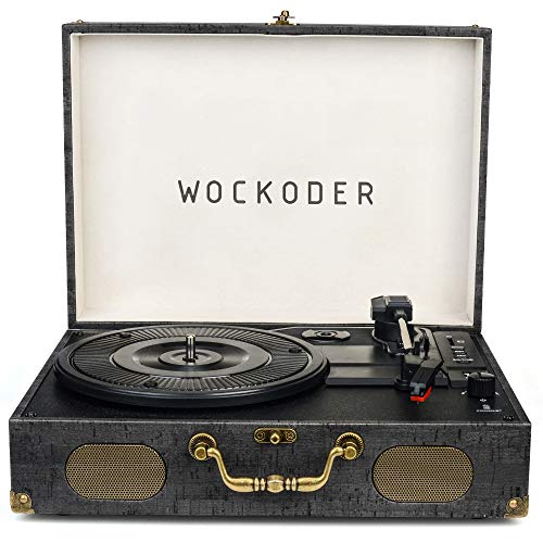 Turntable Record Player Classic Suitcase Record Vinyl Turntable Player LP,Wireless,USB/SD Play,Built-in Speakers,Unique Design Portable Turntable Player (Record Usb Turntable)
