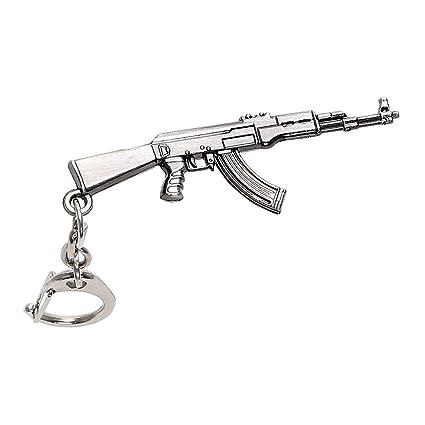 NOPNOG Llavero de Coche con Forma de Pistola, Diseño de ...
