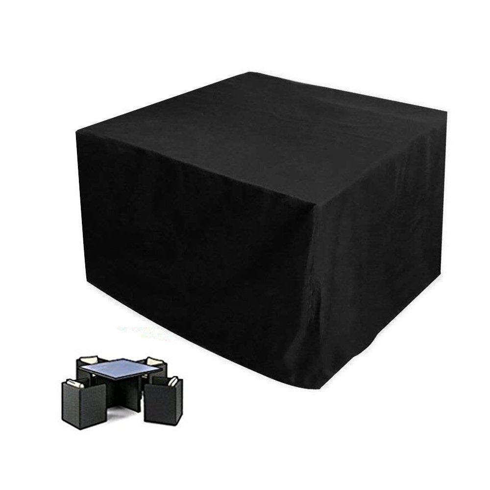 Mr.You Rattan Cube Set Cover, 420D Oxford Fabric Garden Furniture Cover, Cube, 4 Seat(123 x 123 x 74cm)