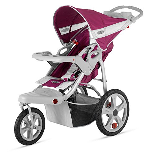 Brand New For Baby InStep Safari Single Swivel Wheel Baby Jogging Stroller - Wine/Grey | AR191 by NMC Shop