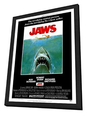 Amazon.com: Jaws - 27 x 40 Framed Movie Poster: Posters & Prints