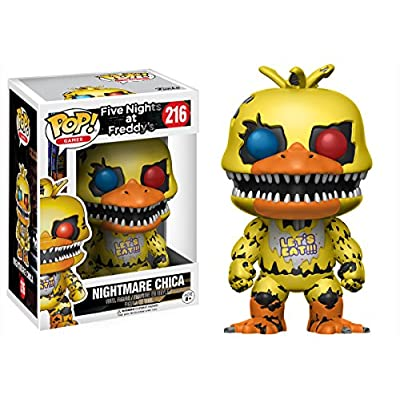Funko POP Games Five Nights at Freddy's Nightmare Chica Action Figure: Funko Pop! Games:: Toys & Games