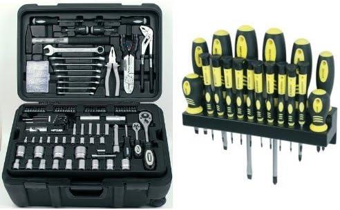 Mannesmann - M29070 - Maletín de herramientas móvil, 122 piezas + ...
