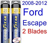 2008-2012 Ford Escape Replacement Wiper Blade Set/Kit (Set of 2 Blades) (Goodyear Wiper Blades-Assurance) (2009,2010,2011)