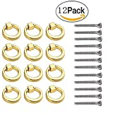 12 Pcs Modern Ring Pull Handles Knobs for Cabinet Drawer Dresser Cupboard