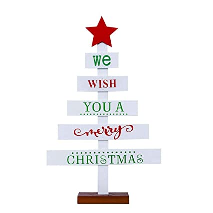 Amazoncom Bjduck99 Mini Wooden Letters Christmas Tree Star Desktop