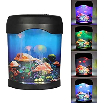 Yewena Multi Color Changing Light LED Artificial Jellyfish Aquarium Lighting  Fish Tank Night Light Lamp Mood Lamp For Home Decoration Magic Lamp For Gift