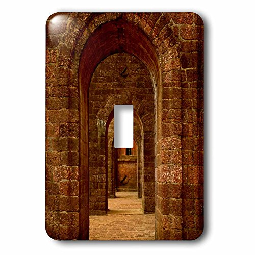 Danita Delimont - Architecture - Arched path at the Basilica of Bom Jesus, Goa - Light Switch Covers - single toggle switch (lsp_225607_1) by 3dRose