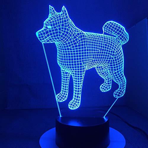 American Japan Akita Samoyedsky Husky Dog Lamp Stand Novedad Night Light Light Drop Transport