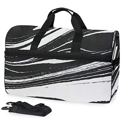 - Gym Bag Marble Ink Pattern Duffle Bag Large Sport Casual Fashion Bag for Men Women