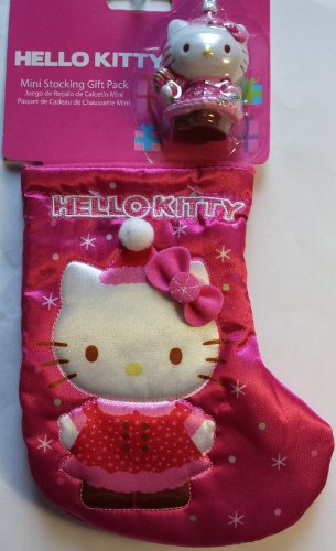 Hello Kitty Mini 7 Inch Stocking with 2 Inch Ornament Gift Pack