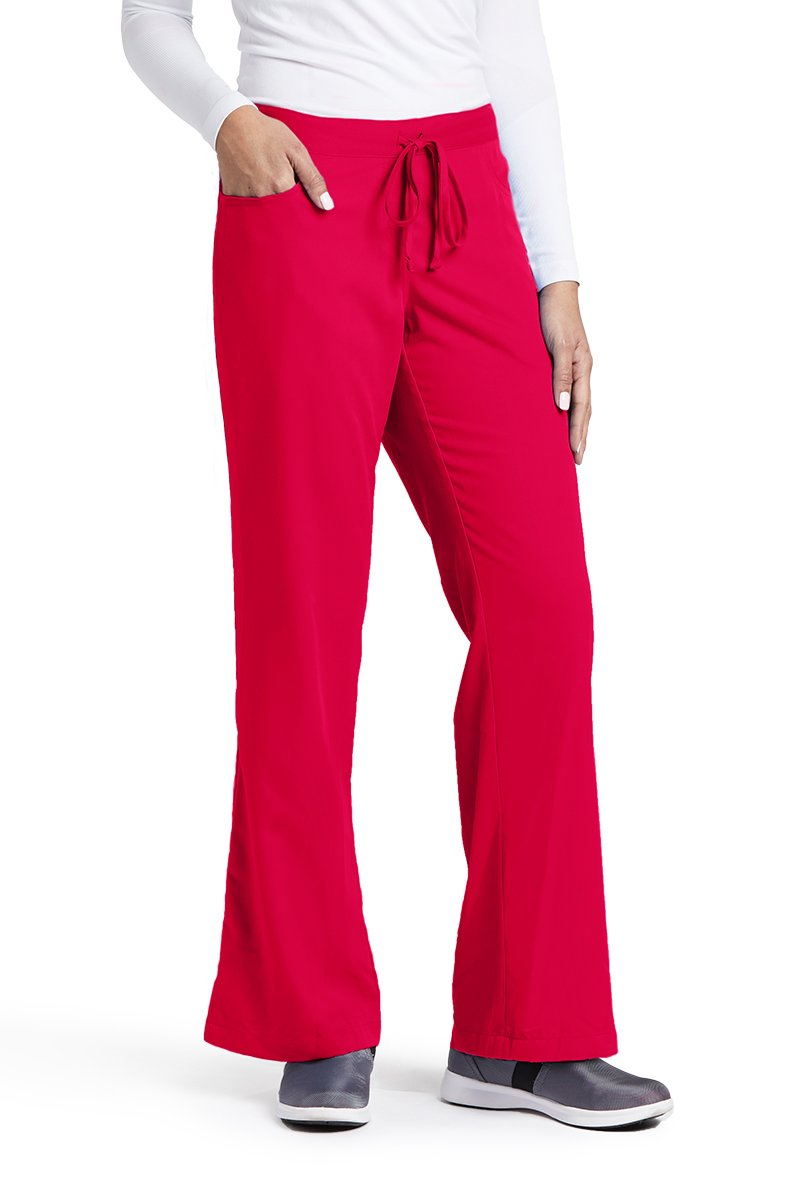Grey's Anatomy 4232 Tie Front Pant Scarlet Red M