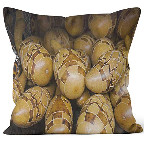Nine City Stack of Maracas Burlap Pillow,HD Printing for Couch Sofa Bedroom Livingroom Kitchen Car,40