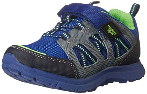OshKosh B'Gosh Gunnar-B Athletic Sneaker (Toddler/Little Kid), Blue/Neon, 10 M US Toddler