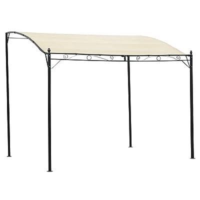 Unfade Memory Outdoor Gazebo Pergola Canopy Fabric Shade Tent Cream White : Garden & Outdoor