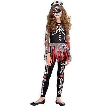 Nueva Amscan – adolescentes Halloween Miedo to the Hueso Niña Esqueleto Disfraz infantil de fiesta