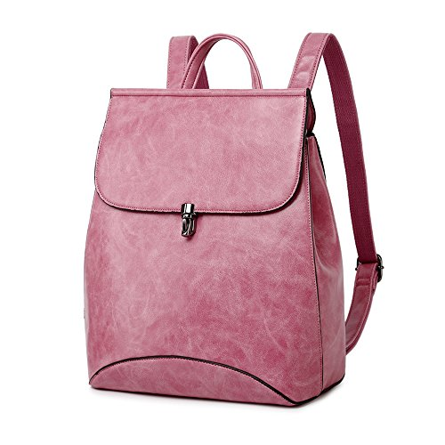 92b432fa31e8 Galleon - WINK KANGAROO Fashion Shoulder Bag Rucksack PU Leather Women  Girls Ladies Backpack Travel Bag (Neon Powder)