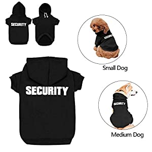 Didog Dog Hoodies Sweatshirts for Small Medium Dogs,Pet Clothes for Puppy Poodle Yorkie Jack Russel Terrier,Black,M Size