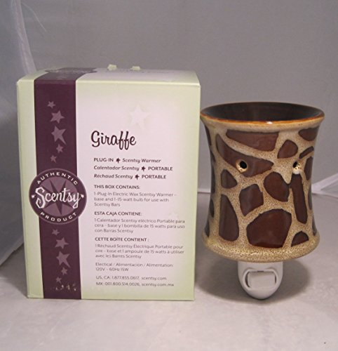Scentsy Nightlight Warmer, ''Giraffe'', Animal Print Nightlight Plug-in Warmer Burner by Scentsy