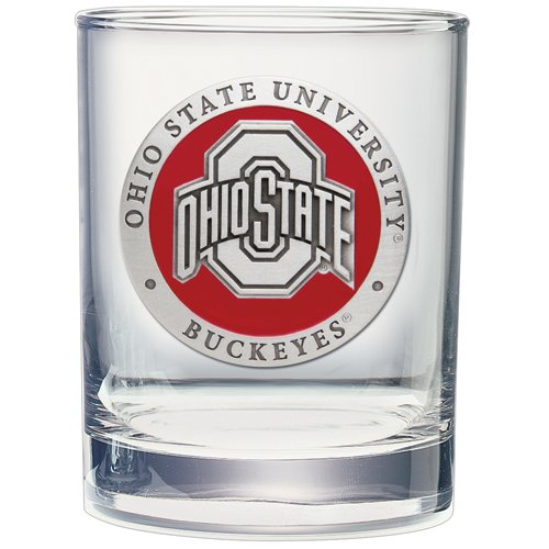 (2pc, Pewter Ohio State University Double Old Fashioned Glass)