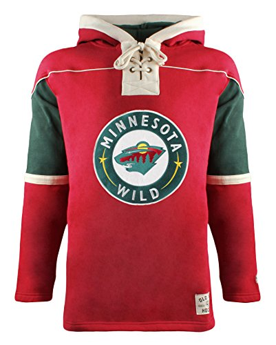 Old Hockey Gear Time (Old Time Hockey NHL Minnesota Wild Men's Lacer Heavyweight Hoodie, Medium, Red)