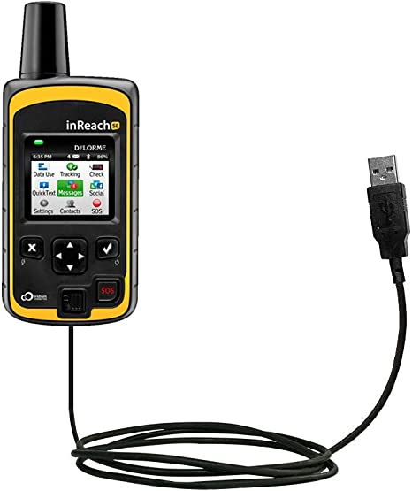 Classic Straight USB Cable Suitable for The Garmin inReach SE Uses Gomadic TipExchange Technology with Power Hot Sync and Charge Capabilities