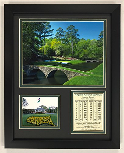 "Legends Never Die Augusta National Golf Course 11"" x 14"" Framed Photo Collage, Inc."