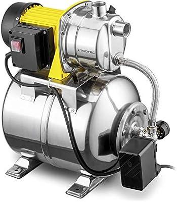 TROTEC Bomba de Agua Doméstica TGP 1025 ES ES aspersor para césped Bomba de jardín 1000 W 3300 l/h Capacidad Acero Inoxidable: Amazon.es: Jardín